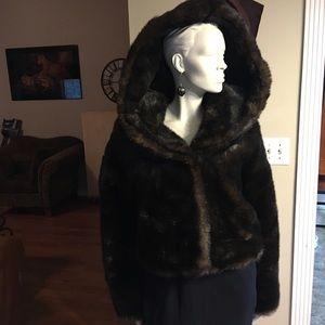 Express Brown Faux Fur Cropped Women's Jacket